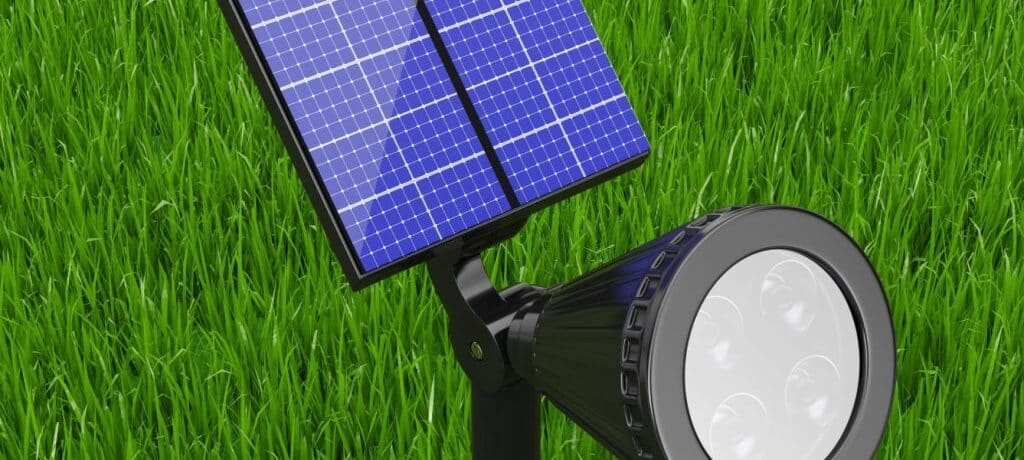 To upgrade the look of your garden and yard, use solar spotlights as ambient lighting
