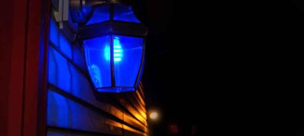 What Does a Blue Porch Light Mean